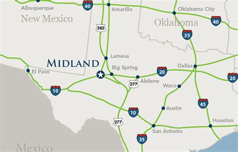 map of midland texas and surrounding areas texas map midland