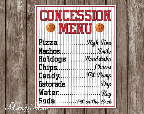 concession menu template 118 best images about emjays bday ideas on