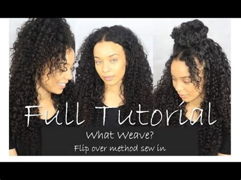 what is a flip over sew in weave style flip over method versatile sew in tutorial most