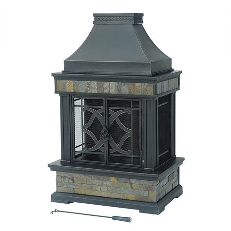 Outdoor Gas Fireplace Lowes by Sunjoy 110504011 Stylus Fireplace Lowe S Canada