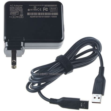 Usb Charger Lenovo 20v 40w laptop ac power supply adapter wall charger usb cable for lenovo 3 pro yoga3