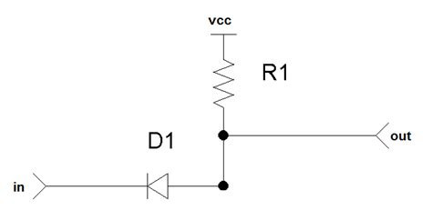diode inverter digital logic can a simple diode and resistor in series qualify as an inverter electrical