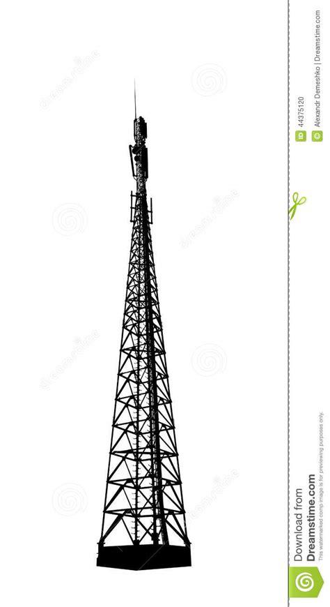 Estación Base Del Teléfono De Radio O Móvil Ilustración