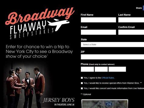 Broadway Sweepstakes - broadway flyaway sweepstakes