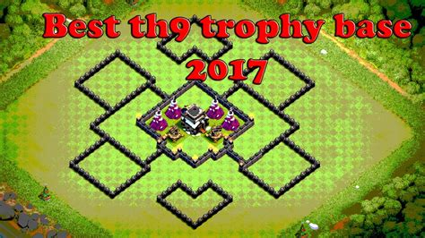 coc layout heart best th9 trophy base 2017 best layout for clash of clans