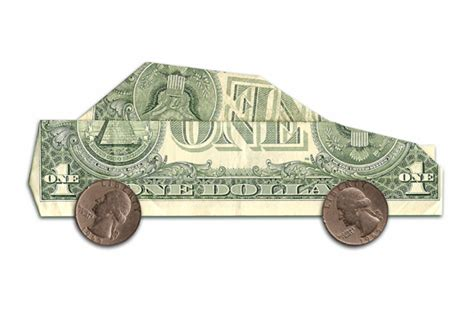 Origami Money Car - car cost savings