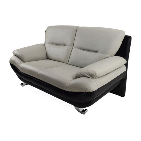 62% OFF   Modern Leather 2 Seater Couch / Sofas