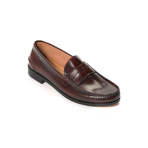 hilfiger loafer shoes hilfiger leather loafer in brown for
