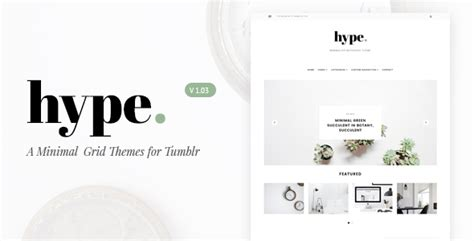 facebook themes tumblr hype minimal grid tumblr theme by tmint themeforest