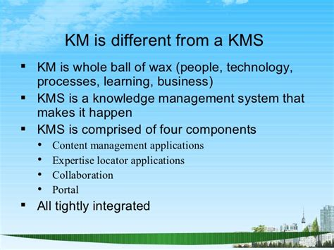 Mba Knowledge Management by Knowledge Management Ppt Bec Doms Mba Genral