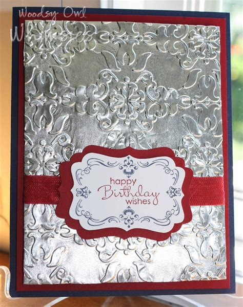 How To Make Embossed Paper - woodsy owl s whimsical world embossed aluminum foil card 1