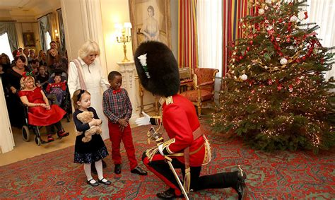 Home Interior Christmas Decorations the duchess of cornwall unveils clarence house christmas