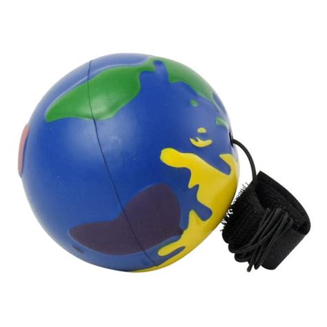 Earth Squeeze Blue squeeze multicolor globe stress balls custom printed