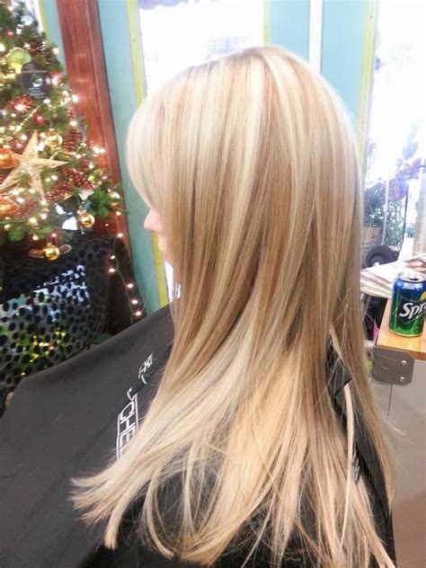 platimum hair with blond lolights platinum highlights with wheat blonde lowlights wallpaper