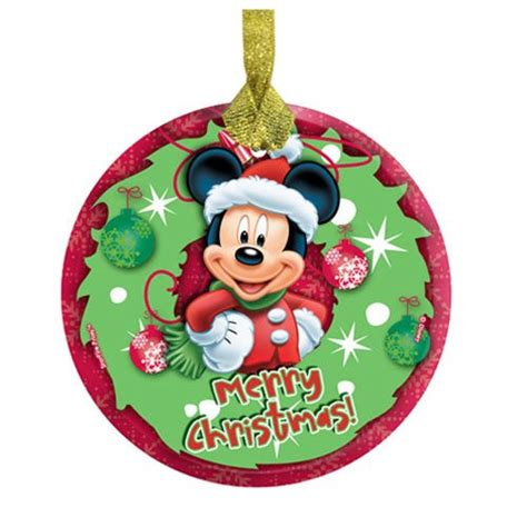 mickey mouse merry christmas hanging starfire glass print entertainment earth