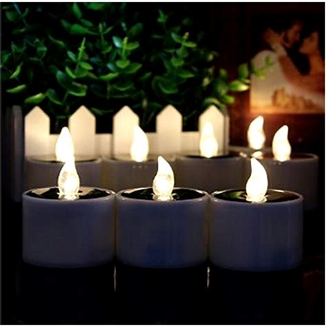 solar led tea lights electronic solar power led candles light l flickering
