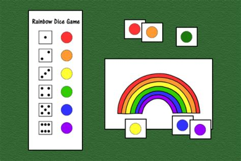 Gamis Rainbow Rainbow Dice Speech Therapy Ideas