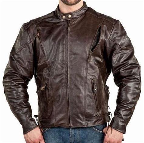 vented leather motorcycle jacket mens vented brown leather motorcycle jacket z o lining