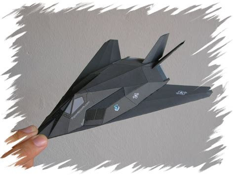 How To Make A Paper Nighthawk - paperaircrafts paper f 117 nighthawk model