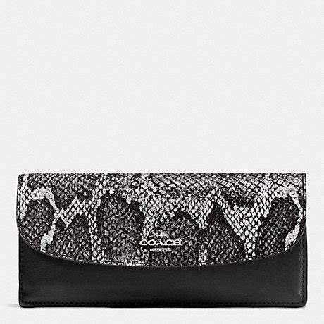 2 Die 4 Coach Multi Snap Earrings by Coach F54821 Soft Wallet In Python Embossed Leather