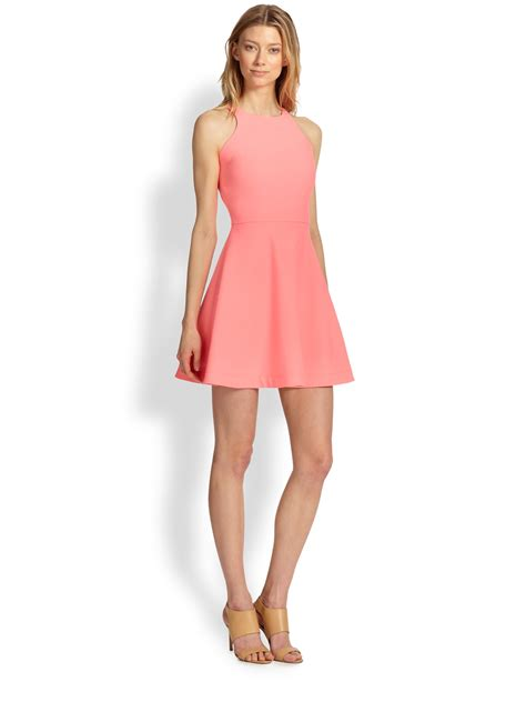 Pink Fit L elizabeth and magdalena fit flare dress in pink lyst