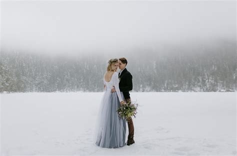 In The Wedding by A Secret Wedding In The Snowy Mountains Of The