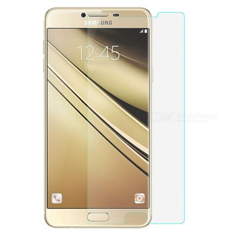 Dijamin Tempered Glass Samsung Galaxy C7 9h tempered glass for samsung galaxy c7 transparent free shipping dealextreme