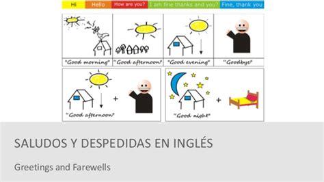 imagenes en ingles de los saludos saludos y despedidas en ingl 233 s