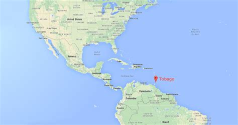 and tobago on the world map tobago on topsy one