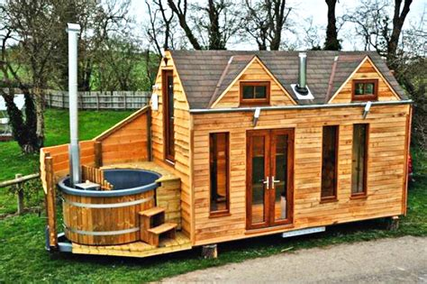 Small House Building Kits Uk Tinywood Homes Come With Their Own Tubs In The Uk