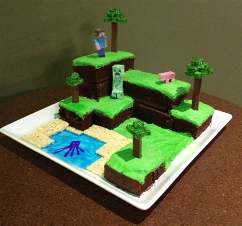 How To Make A Minecraft Person Out Of Paper - minecraft world cake all