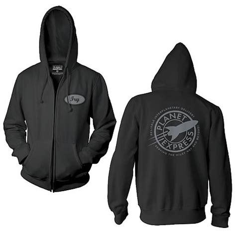 Sweater Zipper U Backfront Logo futurama planet express fry zip up hoodie