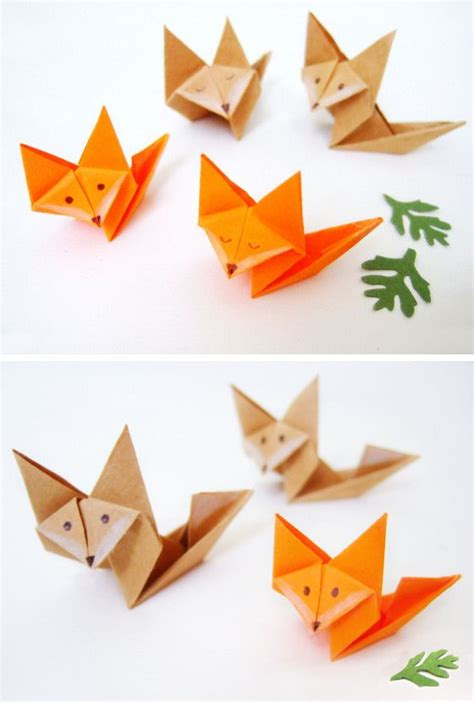 How To Make A Origami Fox - make paper origami fox origami make