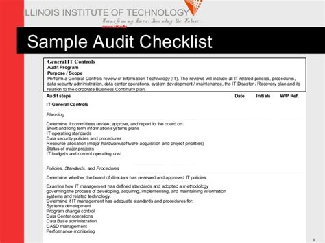 Information Technology Audit Checklist Template The 8 Information Security Checklist Template
