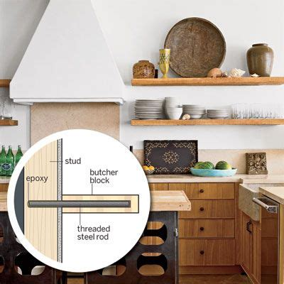 Trade Secrets For Easy Low Cost Upgrades Butcher Block Shelves