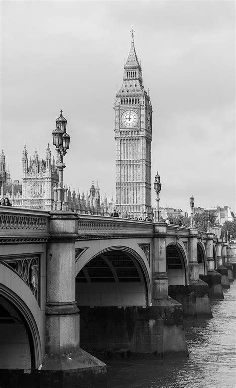 imagenes en blanco y negro de londres cuadro torre del reloj big ben londres n 186 12