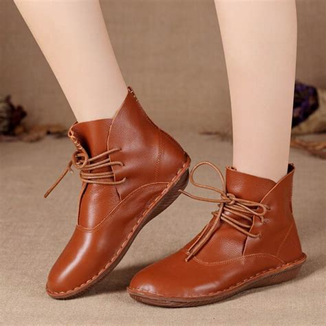 Womens Handmade Boots - aliexpress buy s 100 genuine leather flats