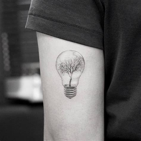 lightbulb tattoo grandfather tree idea on arm tattoos ink