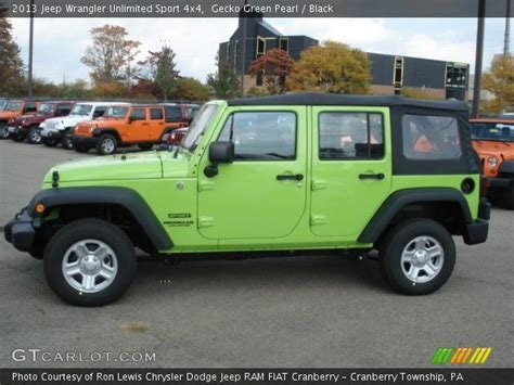 Gecko Green Jeep Wrangler Unlimited For Sale Gecko Green Pearl 2013 Jeep Wrangler Unlimited Sport 4x4