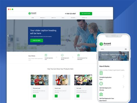 Best Bootstrap Responsive Web Design Templates 40 Ease Template Loan Website Templates