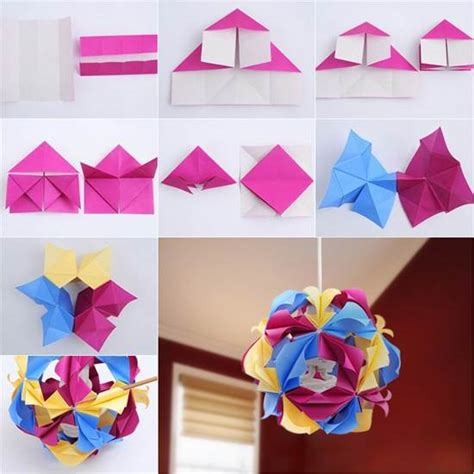 Origami Craft Projects - how to diy beautiful origami paper lantern