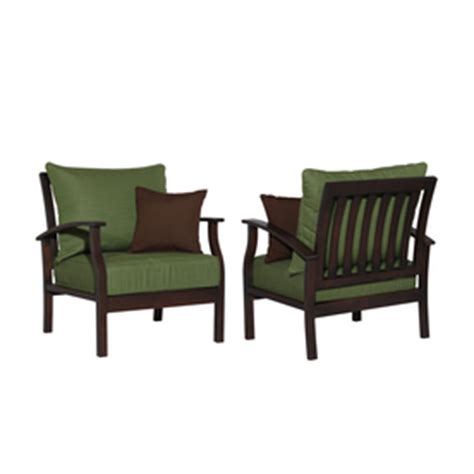 allen roth set of 2 eastfield cast aluminum patio chairs