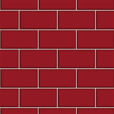 Subway Tile ? Red   Wallsorts