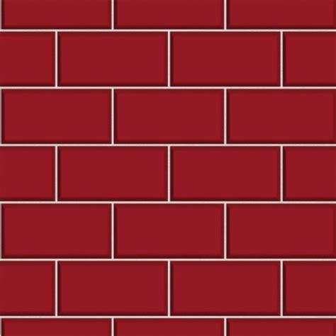 Subway tile red wallsorts