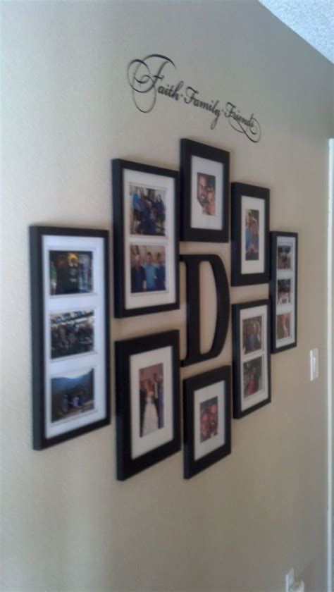 wall frame ideas faith family and friends hallway wall collage ideas
