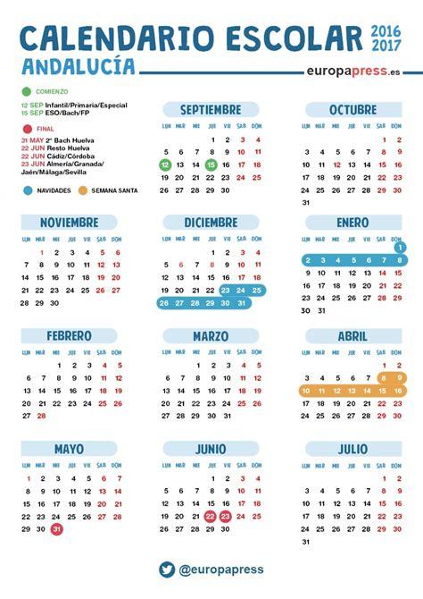 Calendario Escolar Andalucia 2015 Cadiz Calendario Escolar De Andaluc 237 A 2016 2017 Navidad Semana