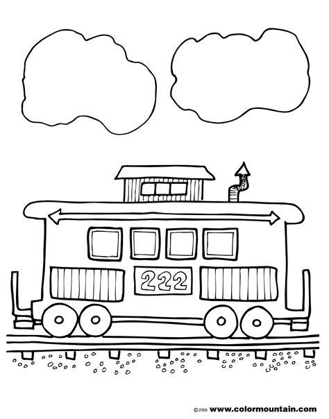 coloring pages passenger train best caboose clipart 14445 clipartion com