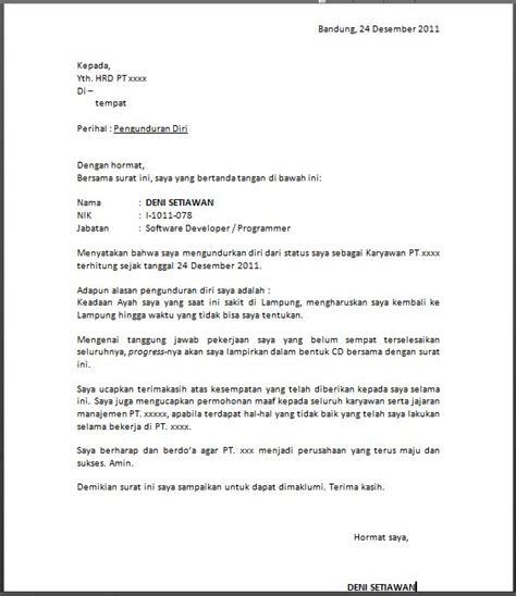 format nik contoh surat pengunduran diri dari perusahaan resign