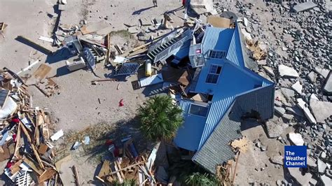 crash boat beach damage aerial view of edisto beach damage the weather channel