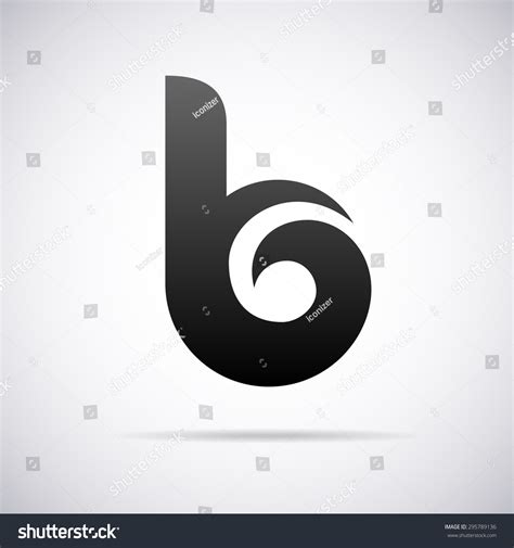letter design template logo letter b design template stock vector 295789136